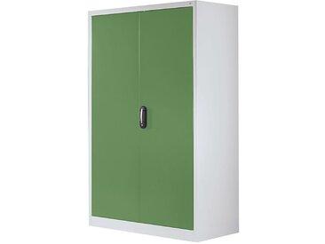 CP Armoire à portes battantes, h x l 1950 x 1200 mm - profondeur 500 mm - coloris portes vert - Col. tablette: galvanisé|Col. portes: vert
