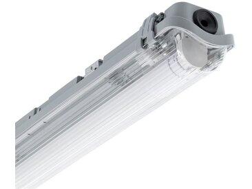 Kit Réglette Étanche Slim PC/PC avec un Tube LED T8 Connexion Latérale 1200mm 18W Blanc Chaud 2800K - 3200K