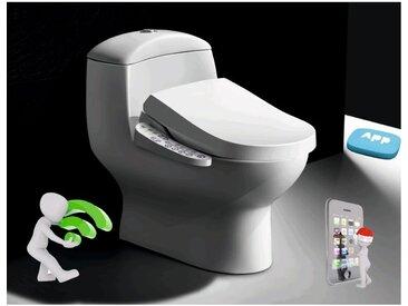 Abattant WC Japonais TopToilet Luxe Bronze Connect - Blanc