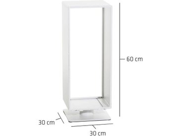 Porte-bûches Basil blanc mat 30x30x60 cm