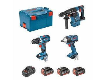 BOSCH Kit ECL3P3C (GSR 18V-60C + GDS 18V-EC 250 + GBH 18V-26F + 3 x 5,0Ah + GAL1880CV + L-Boxx 238)
