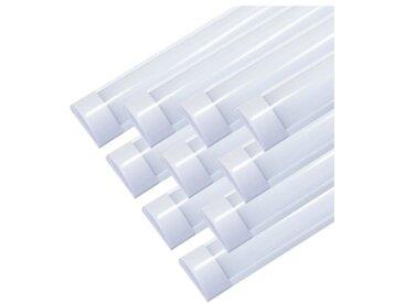 Réglette lumineuse LED 60cm 24W (Pack de 10) - Blanc Froid 6000K - 8000K