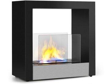 Klarstein Phantasma Cube Cheminée à l'éthanol sans fumée brûleur inox