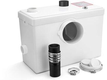 Broyeur Sanitaire 600W pour WC, 2 Entrées Suppémenatires pour connecter tous types de Sanitaires