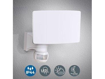 Applique LED extérieur éclairage mural avec détecteur de mouvement 20W IP44 blanche