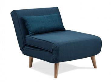 MAORA - Fauteuil convertible en tissu bleu