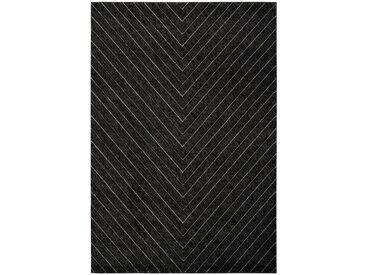 Tapis scandinave pour salon graphique Barthelemy Graphite 80x150