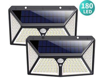 Détecteur de Movement Spot Solaire led éclairage Extérieur étanche sans fil Applique Lumière Solaire pour Jardin Garage