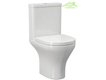 Pack WC à poser AMPIFOLIS ROUND 37,5x61x76 cm avec abattant à frein de chute