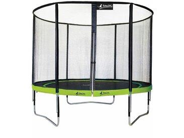 Kangui - Trampoline de jardin rond 305 cm + filet de sécurité PUNCHI Vert 300 - Vert