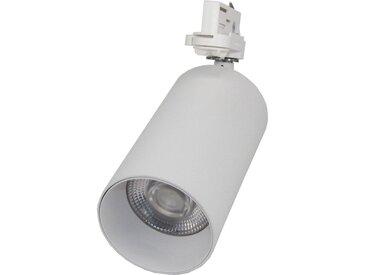 Spot LED sur rail 32W 38° Monophasé BLANC - Blanc Neutre 4000K - 5500K