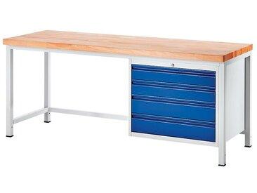 RAU Etabli, stable - 4 tiroirs taille XL - profondeur 900 mm, largeur 1250 mm
