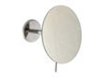 Miroir cosmétique et de rasage Emco, grossissement 3x, bras simple, rond 180 mm, non éclairé, Coloris: Noir - 109413302