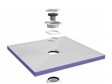 Receveur de douche à carreler Jackoboard centré | 100 x 100 cm - Horizontal