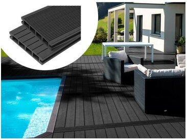 Pack 10 m² - Lames de terrasse composite alvéolaires - Ardoise