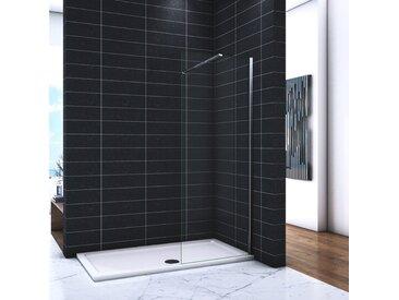 OCEAN Paroi de douche 60x200cm en 8mm verre avec vitrification nano(anticalcaire) livré avec une barre standard 90cm
