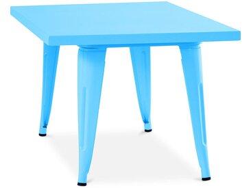 Table pour enfant de style Tolix - 60 cm - Métal Turquoise