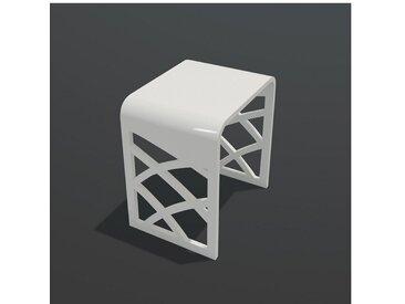 Tabouret de Salle de Bain - Solid Surface Blanc Mat - 40x30 cm - Tendance