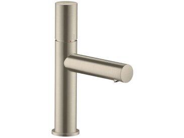AXOR UNO Mitigeur lavabo 110, poignée zéro, bonde à écoulement libre, nickel brossé (45002820)
