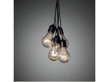 Konstsmide Guirlande lumineuse stalactites pour lintérieur/extérieur 230 V/50 Hz 180 Ampoule LED ambre