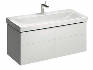 Geberit Geberit Xeno 2 Waschtischunterschrank 500.518., 1174x530x462mm, 4 Schubladen, Coloris: Laque brillante blanche - 500.518.01.1