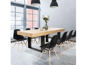Table à manger PHOENIX 10 personnes bois et noir 224 cm