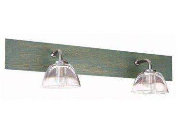 Applique salle de Bain Aurore 2 lampes Bois gris�