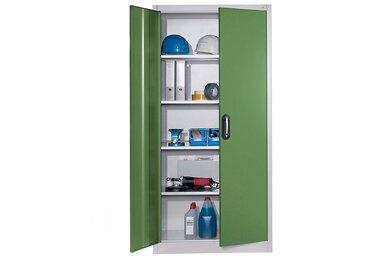 CP Armoire à portes battantes, h x l 1950 x 930 mm - profondeur 500 mm - coloris portes vert - Col. tablette: galvanisé|Col. portes: vert