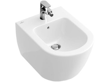 Villeroy & Boch Bidet compact Subway 540600 355x480mm, 1 trou pour robinet, avec trop plein, Coloris: Blanc - 54060001