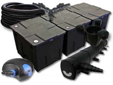 SunSun Kit filtration de bassin 90000l avec 72W Stérilisateur 100W éco Pompe 25m Tuyau Skimmer SK40