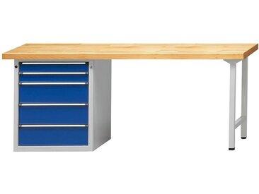 ANKE Etabli, stable, 5 tiroirs, largeur 2000 mm hêtre massif