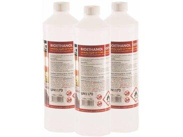 15 x 1 Litre Bioéthanol à 100% dénaturé en bouteilles de 1 l