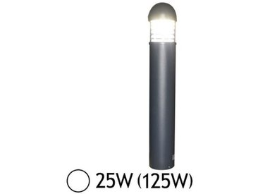 Potelet paralume rond LED 25W (125W) IP65 Blanc jour 6000°K Alu anthracite
