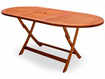 Deuba - Table de jardin pliable 'Alabama' en bois d'Acacia pré-huilé certifié FSC - table pliante terrasse balcon