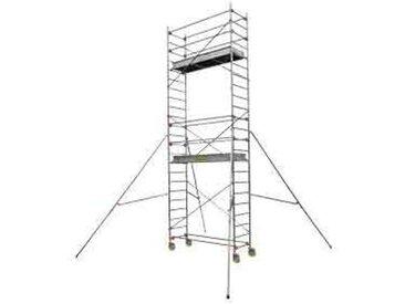 Echafaudage roulant aluminium - Longueur 2m05 - ST 205 4, plancher 3m90