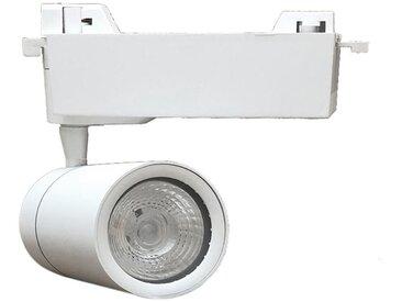 Spot LED sur Rail 15W 80° COB Monophasé BLANC - Blanc Chaud 2300K - 3500K