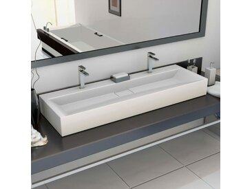 Vidaxl - Lavabo 120x46x11 cm Fonte minérale/marbre Blanc