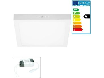 ECD Germany 6 x LED Plafonnier 24W AC 220-240 V 1912 lumens 300 x 300 mm angle de 160 ° IP53 Blanc Froid Angulaire