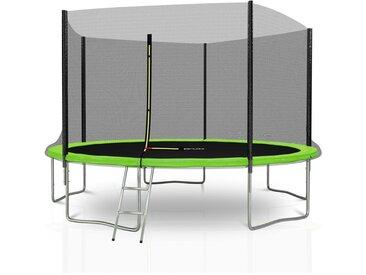 Trampoline extérieur Deluxe Jump4Fun 12Ft / ø366 cm - 5 Perches Vert Pomme