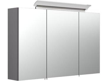 Armoire de toilette avec miroirs et Lampe LED acrylique 100cm Anthracite satiné