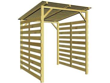 Hommoo Abri de stockage du bois de chauffage Bois de pin imprégné FSC