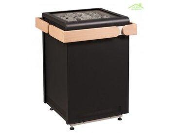 Poêle à sauna design CONCEPT R de SENTIOTEC 9, 10,5, 12 ou 15 kW - Acier inoxydable
