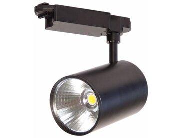 Spot LED sur Rail 30W COB 80° Monophasé NOIR - Blanc Froid 6000K - 8000K