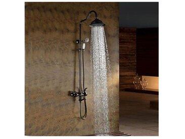 Robinet de douche et baignoire finition bronze huilé