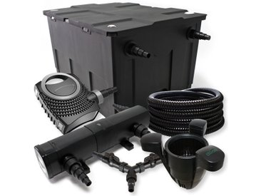SunSun Kit filtration bassin 60000l 18W Stérilisateur NEO8000 70W Pompe 25m Tuyau Skimmer SK40