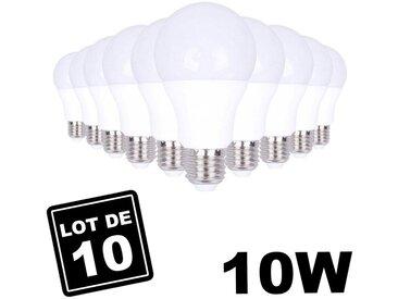 Ampoules LED E27 10W 4500K par Lot de 10 Haute Luminosité