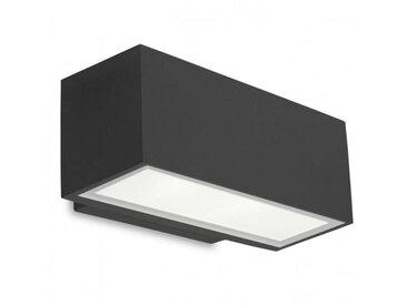 Applique Led 11,5W Afrodita, aluminium et verre, gris urbain