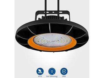 4×Anten 150W UFO Projecteur LED Dimmable Projecteur LED d'éclairage Industriel Suspension IP65 Phare de Travail Spot Lumière Éxtérieur et Indérieur Blanc Froid 6000K (Variateur non compris)