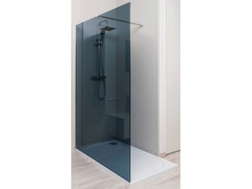 Paroi de douche italienne verre fume 140 X 200 cm