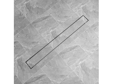 Drain de douche linéaire 1030 x 140 mm Acier inoxydable